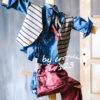 Βαπτιστικό κοστούμι με μπορντό παντελόνι μπλε πουκάμισο και ριγέ γιλέκο 17123