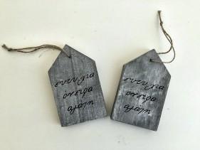 Χειροποίητη βαπτιστική μπομπονιέρα ξύλινο σπιτάκι με ευχές