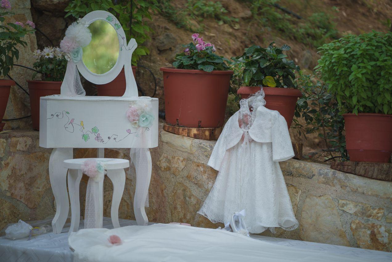 Σετ βάπτισης, κομοδίνο για κορίτσι