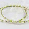 Ρομαντικά Στέφανα Γάμου από πορσελάνινα λουλούδια πέρλες συνδυασμένα με πέτρες Swarovski σε πολυτελή θήκη (100) NESTP 007
