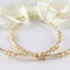 Ρομαντικά Στέφανα Γάμου από πορσελάνινα λουλούδια πέρλες συνδυασμένα με πέτρες Swarovski σε πολυτελή θήκη (120) NESTP 009