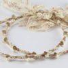 Ρομαντικά Στέφανα Γάμου από πορσελάνινα λουλούδια πέρλες συνδυασμένα με πέτρες Swarovski σε πολυτελή θήκη (80) NESTP 006