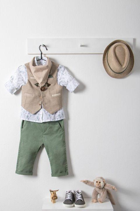 Βαπτιστικό ρούχο σετ για αγόρι με μπεζ γιλέκο_NEVRAMP_012