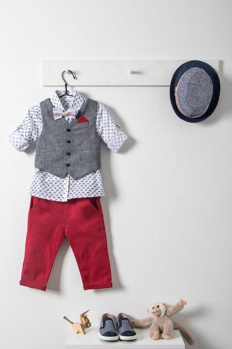 Βαπτιστικό ρούχο σετ για αγόρι με γκρι γιλέκο_NEVRAMP_013
