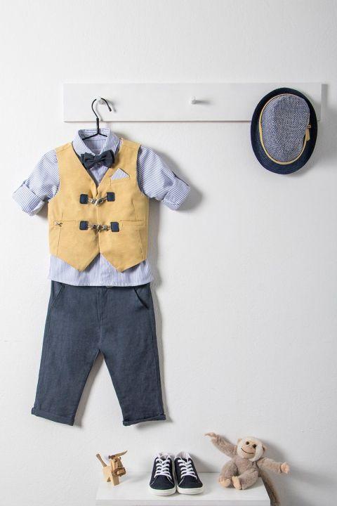 Βαπτιστικό ρούχο σετ για αγόρι με κίτρινο γιλέκο_NEVRAMP_016