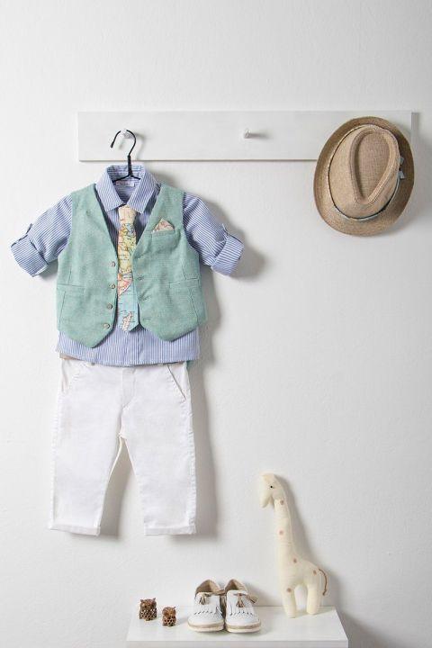 Βαπτιστικό ρούχο σετ για αγόρι με γιλέκο_NEVRAMP_021