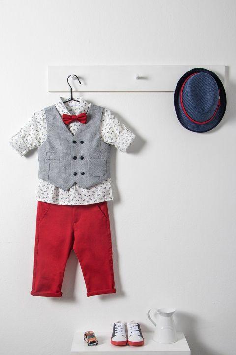 Βαπτιστικό ρούχο σετ για αγόριμε γκρι γιλέκο_NEVRAMP_031