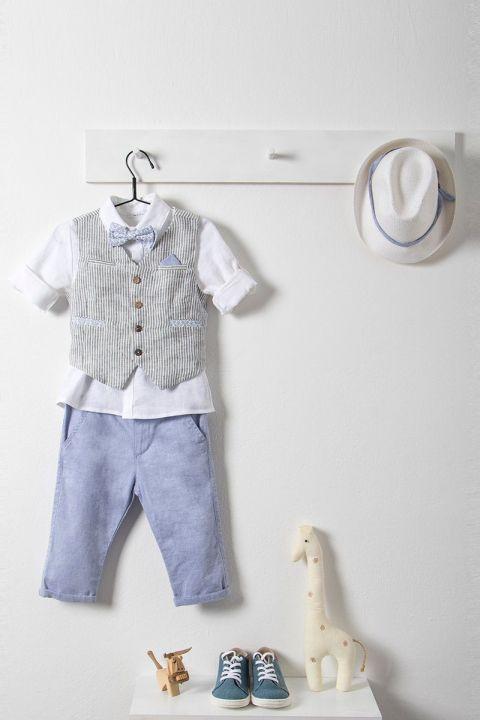 Βαπτιστικό ρούχο σετ για αγόρι με γκρι γιλέκο_NEVRAMP_038