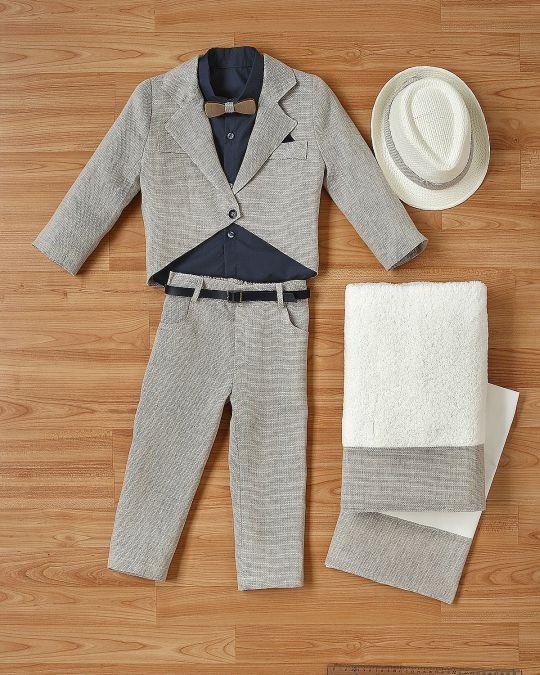 Βαπτιστικό ρούχο σετ για αγόρι_NEVRANL_001