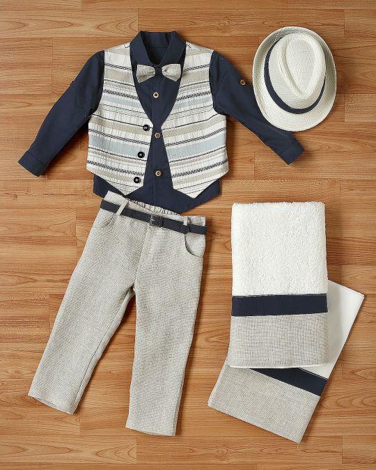 Βαπτιστικό ρούχο σετ για αγόρι_NEVRANL_003