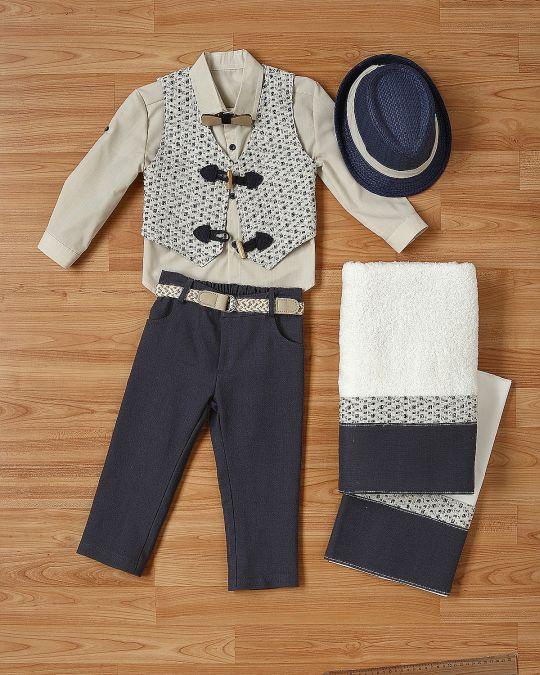 Βαπτιστικό ρούχο σετ για αγόρι_NEVRANL_005
