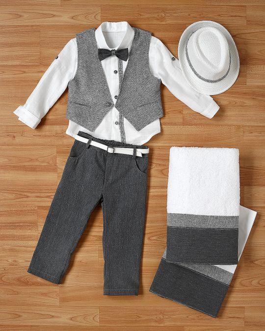 Βαπτιστικό ρούχο σετ για αγόρι_NEVRANL_006