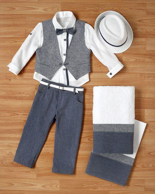 Βαπτιστικό ρούχο σετ για αγόρι_NEVRANL_007