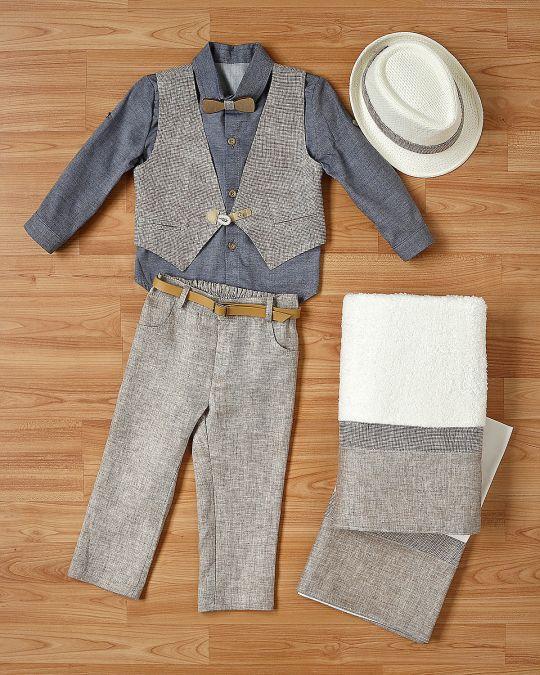 Βαπτιστικό ρούχο σετ για αγόρι_NEVRANL_008