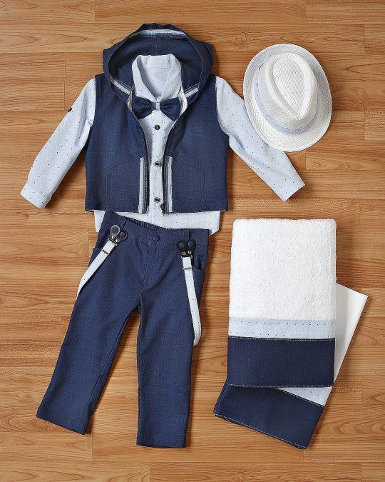 Βαφτιστικό ρούχο σετ για αγοράκια_NEVRANL_027
