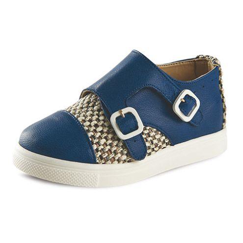 Παπούτσι βάπτισης σε μπλε χρώμα για αγόρι_NEVAP_003