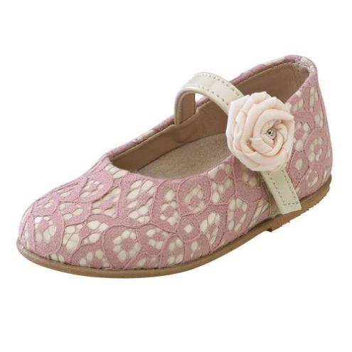 Παπούτσι βάπτισης για κορίτσι σε απαλό ροζ χρώμα_NEVKP_005