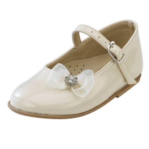 Παπούτσια βάπτισης για κορίτσι με φιόγκο_NEVKP_009