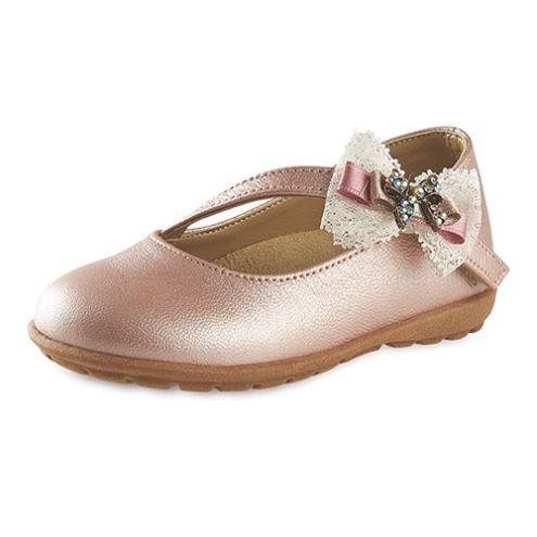 Ροζ γοβάκι παπούτσια βάπτισης για κορίτσι_NEVKP_018