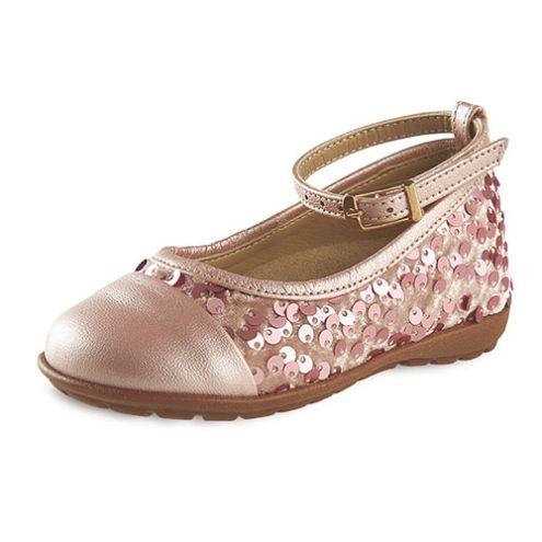 Ροζ παπούτσια βάπτισης με παγέτες για κορίτσι_NEVKP_020