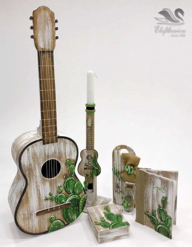 Κουτί βάπτισης κιθάρα για αγόρι NEKVAMN_035