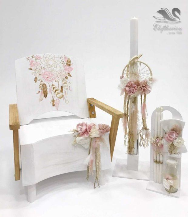 Κουτί βάπτισης πολυθρόνα για κορίτσι NEKVKMN_019