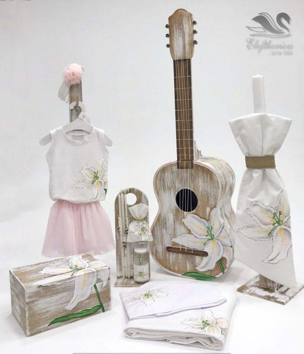 Κουτί βάπτισης κιθάρα για κορίτσι NEKVKMN_021