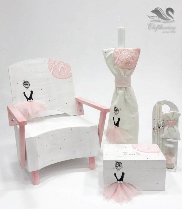 Κουτί βάπτισης πολυθρόνα για κορίτσι NEKVKMN_025