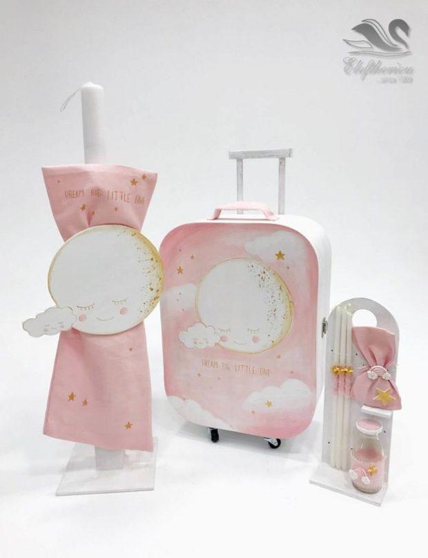 Κουτί βάπτισης βαλίτσα για κορίτσι NEKVKMN_028