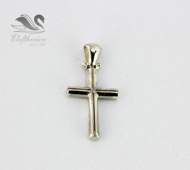 Κομψός βαπτιστικός σταυρός. Βαπτιστικός σταυρός 3.6 γραμμαρίων NESTVR_005