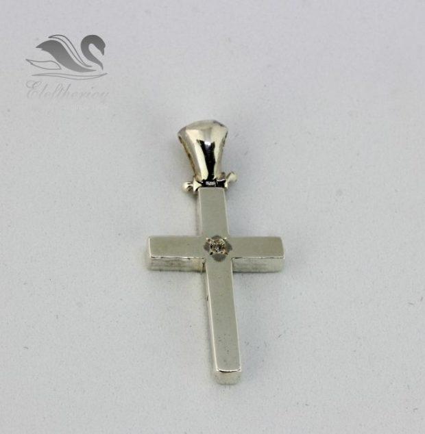 Κομψός σταυρός βάφτιστης. Βαπτιστικός σταυρός 3.6 γραμμαρίων NESTVR_008