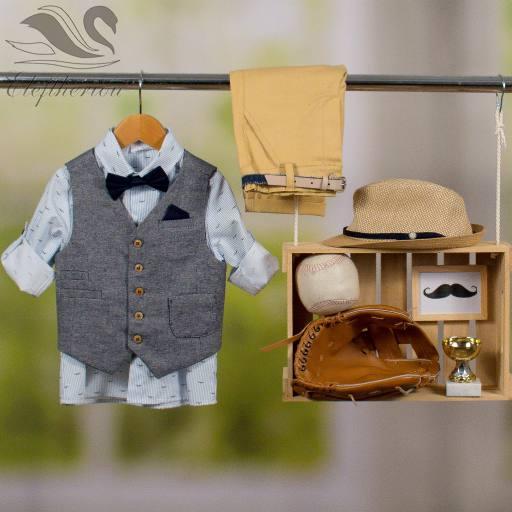 Βαπτιστικό ρούχο σετ για αγόρι_NEVRAMP_060