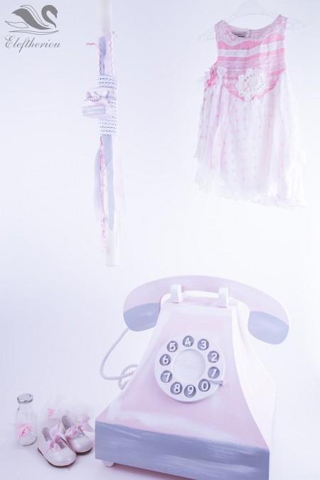 Σετ βάπτισης, Βαπτιστικό κουτί τηλέφωνο για κορίτσι