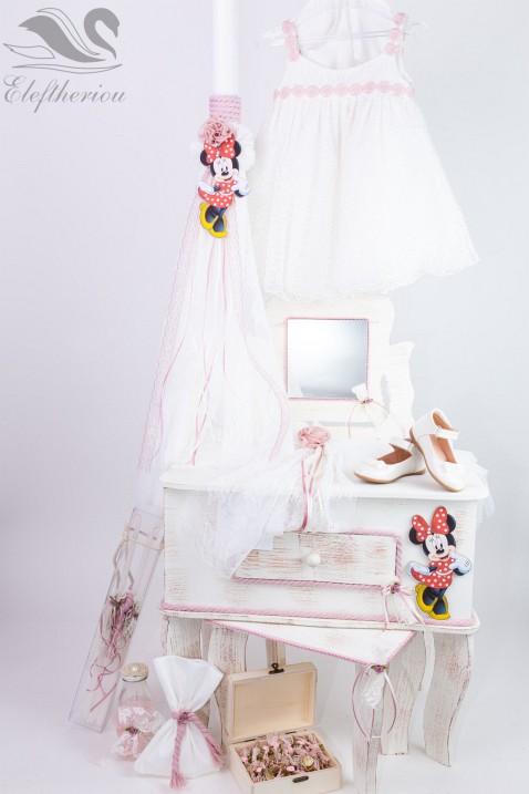 Σετ βάπτισης, Βαπτιστικό κουτί για κορίτσι minnie mouse