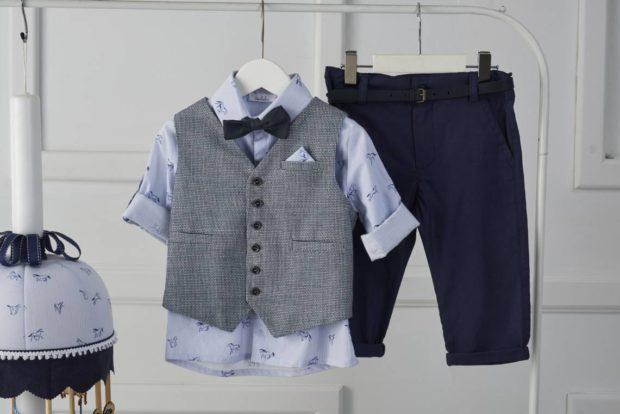 Βαπτιστικό Ρούχο Για Αγόρι με κουτί, λαμπάδα, κουστούμι με σχέδιο άλογο